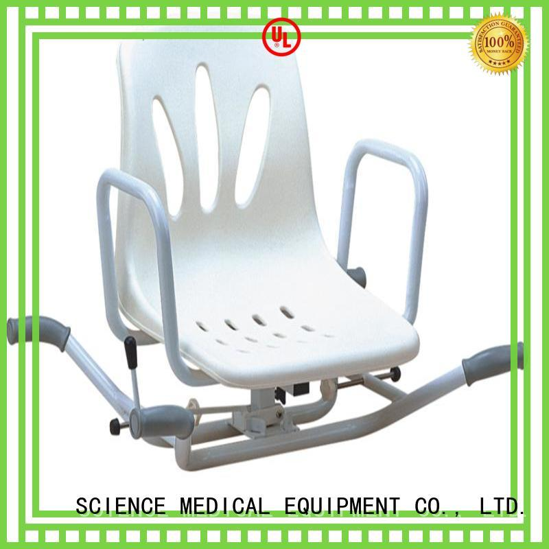 SCIENCE MEDICAL Breathable folding shower chair ss for shower assistant