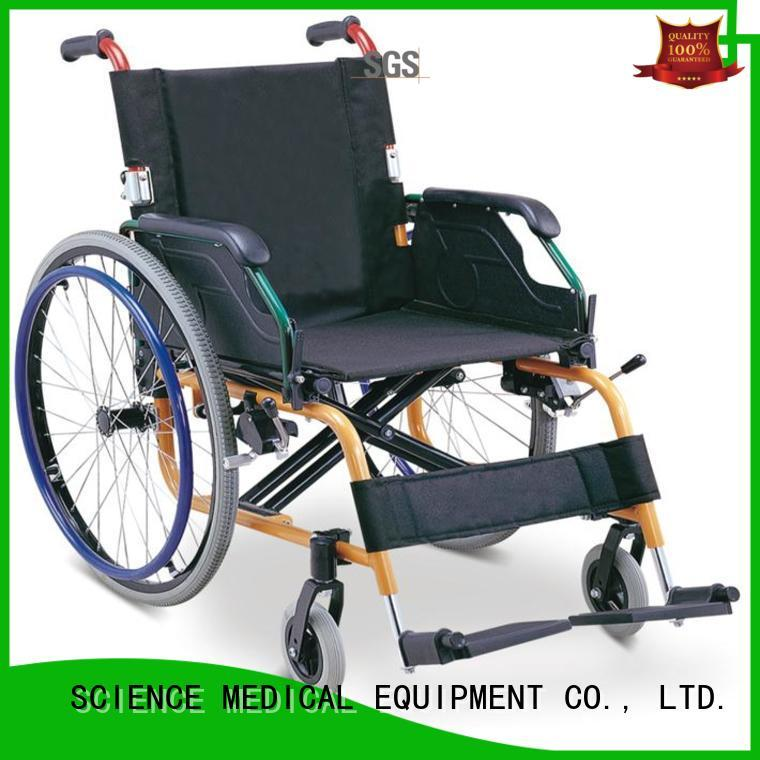 New light wheelchair for adults foldable for business for elder