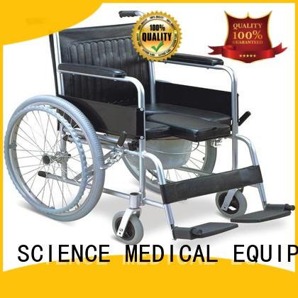 SCIENCE MEDICAL durable wheelchair with toilet price steel for elder