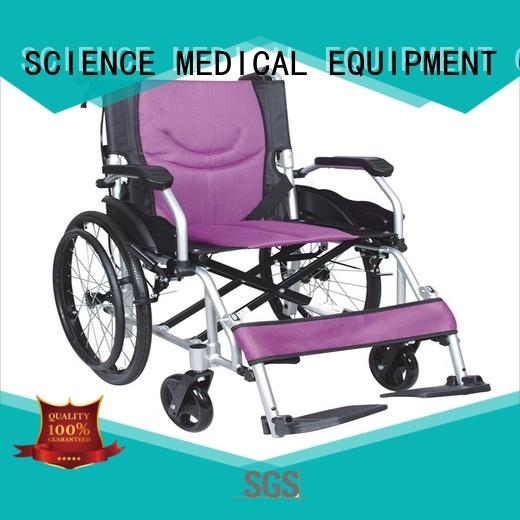 SCIENCE MEDICAL Top lightweight aluminium wheelchair for business for patient