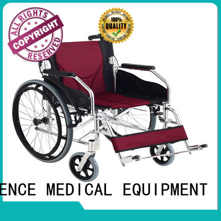 SCIENCE MEDICAL powder wheelchair with hand brakes OEM for elder