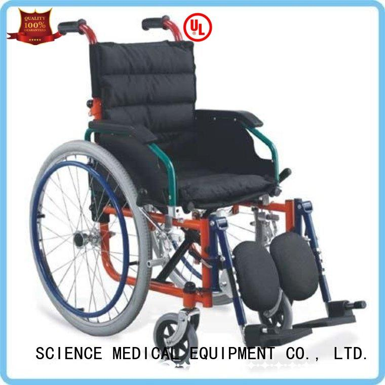 portable best pediatric wheelchair 41cm ODM for disabled