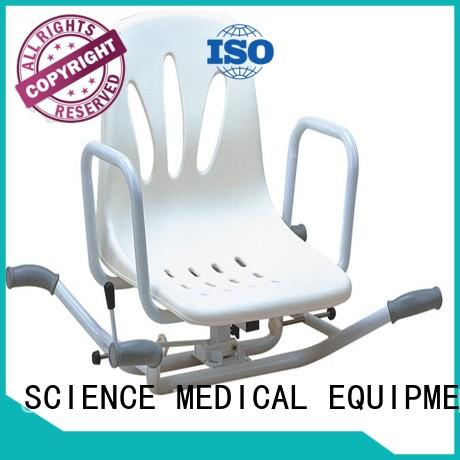 SCIENCE MEDICAL Brand pu leg shower chair with swivel seat scaw16