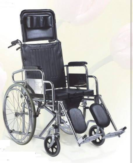 Commode Wheelchair Reclining High Back SC-CW12(S)