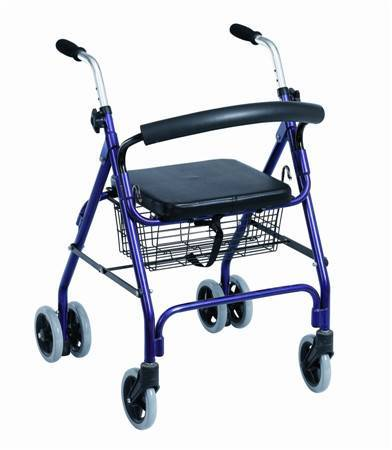 Medical Equipment Deluxe Aluminum push-down Rollator