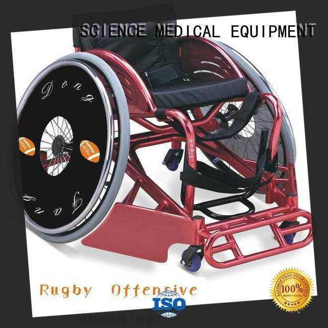 SCIENCE MEDICAL Breathable wheelchair basketball chair free sample for elder