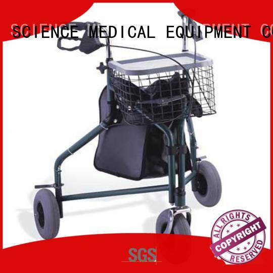 SCIENCE MEDICAL latest three wheel walker customization for traveling